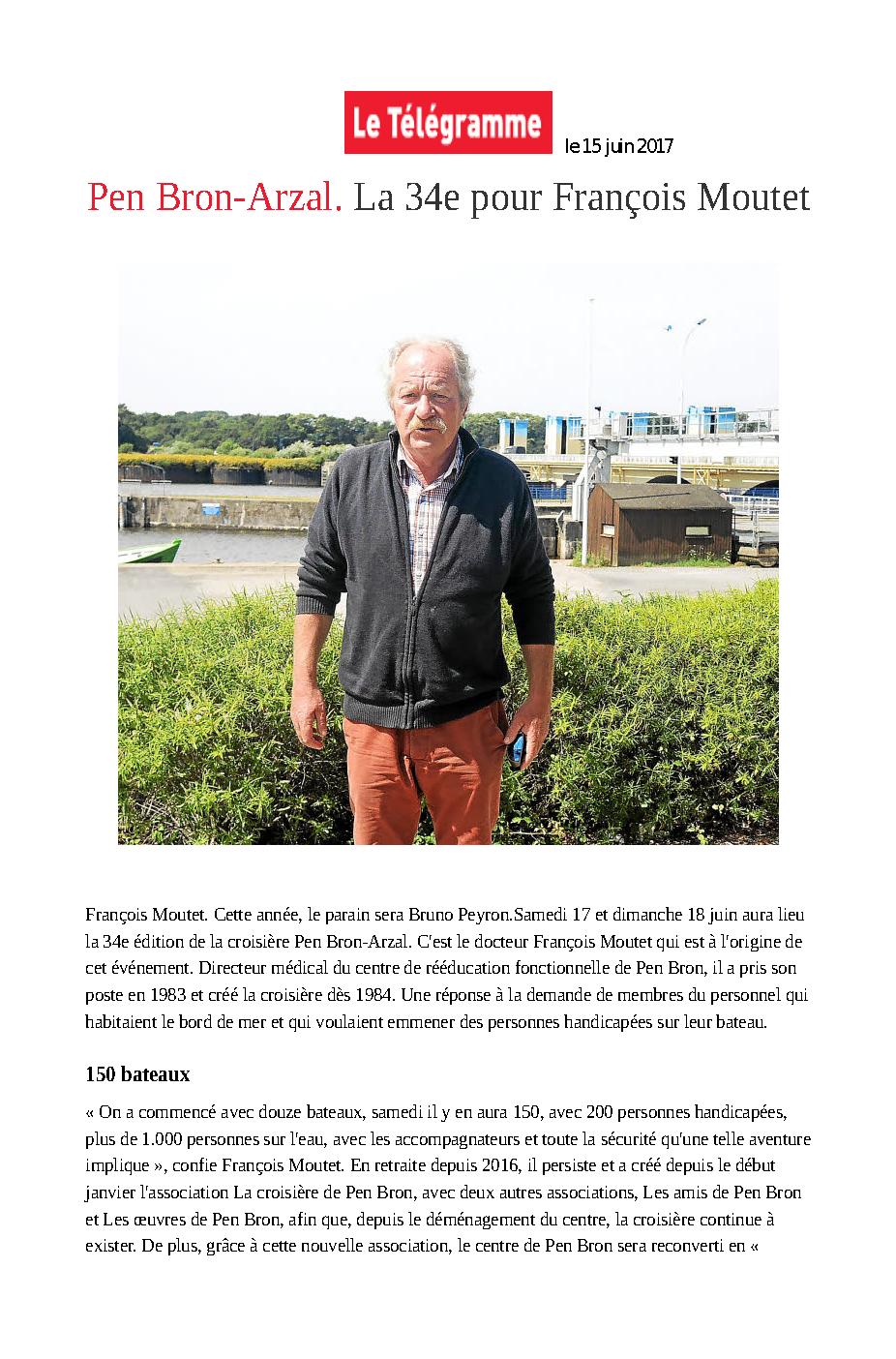 Pen Bron-Arzal. La 34e pour François Moutet