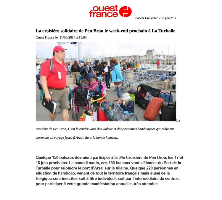 La croisière solidaire de Pen Bron le week-end prochain à La Turballe